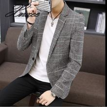Xnxee2019 spring and autumn new mens casual suit Korean version of the self-cultivation plaid blazer M-4XL