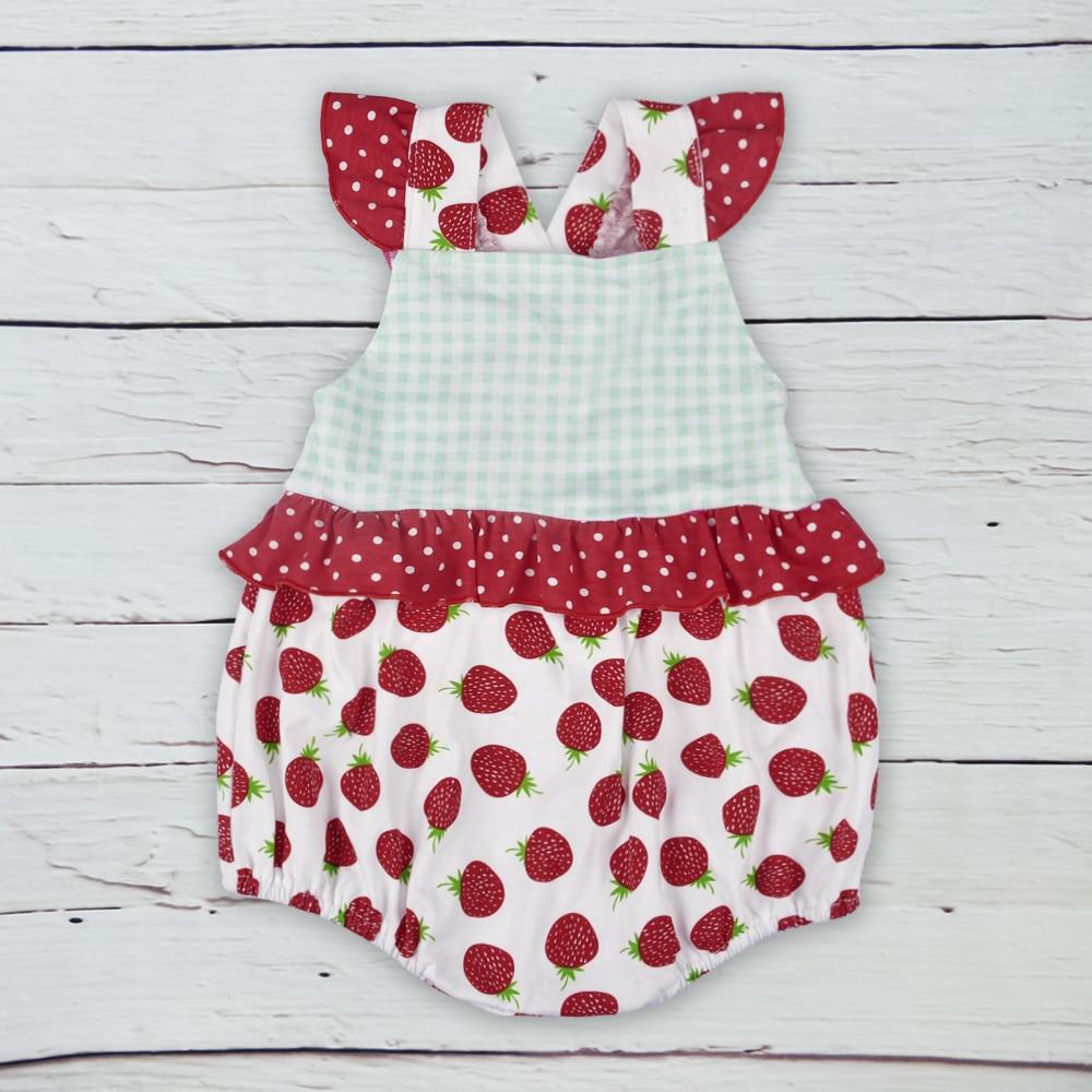 Hot Sale Design Summer Newborn Baby Rainbow Clothing Cotton Bubble Girls Print Rompers Matching Headband GPF804-129