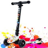 Best Скутеры для продажи 3 колеса самоката складной для детей Обувь для мальчиков Обувь для девочек От 2 до 16 лет полный мигать pu колеса
