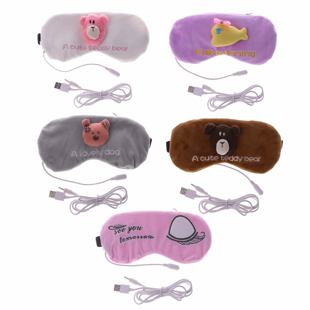 Cartoon Animal Eye Cover USB Charging Head Electric Heating Hot Steam Compress