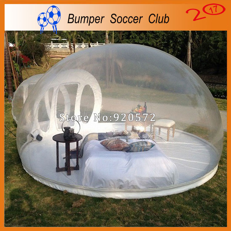 Free shipping! Clear inflatable dome tent inflatable bubble tent transparent inflatable tent for outdoor camping pvc bubble inflatable tent transparent camping tent hot large inflatable tent inflatable ball tent
