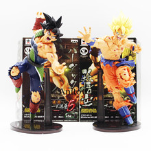 22CM Dragon ball Z SCultures BIG Resurrection Of F Styling God Super Saiyan Son Goku Bardock PVC action Figure Toy KT1759