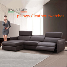 pillows / leather swatches / for Living Room Sofa set chesterfield sofa real genuine cow leather sectional sofas neoclassical(China)