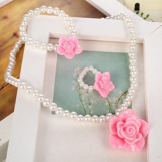 Cute Pink Simulated Pearl...