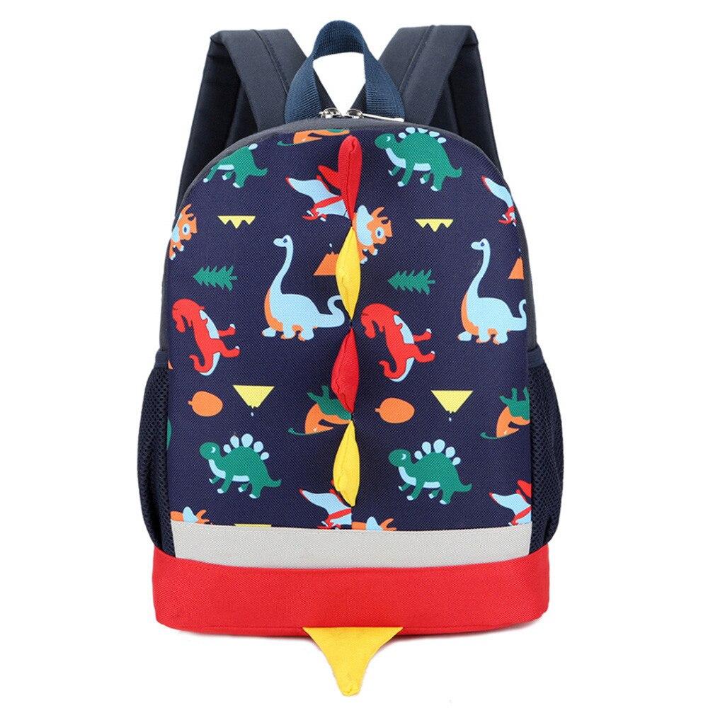 Cute Dinosaur Print Kids School Bag Animals Student Backpack Unisex Rucksack Child Gift School Toddler Zipper for Children sale