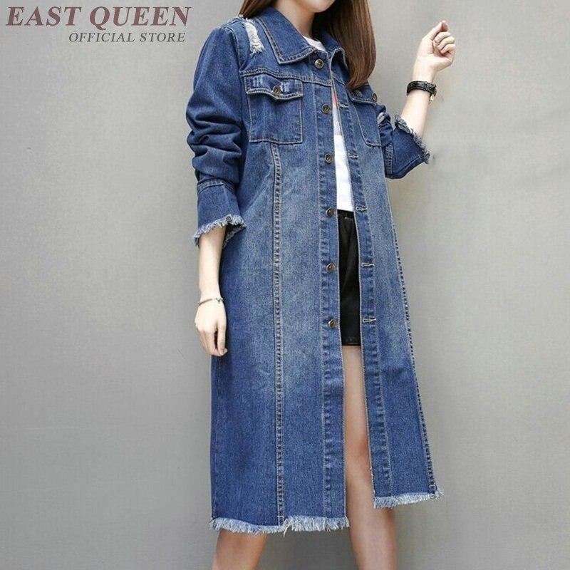 Jean   jacket   2018 women female long sleeve autumn winter   basic     jackets   coat fashion blue ladies women denim   jacket   DD1290