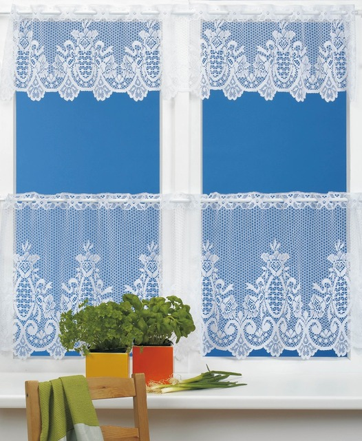 Merveilleux White Lace Kitchen Cafe Curtains For The Kitchen Country Style Curtains  2pieces Curtains Sets 160x30cm Or