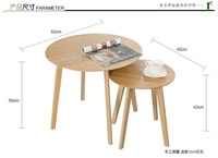 High Quality Creative Round Coffee Table Eco Friendly Bamboo Living Room Tea Table Side Tables