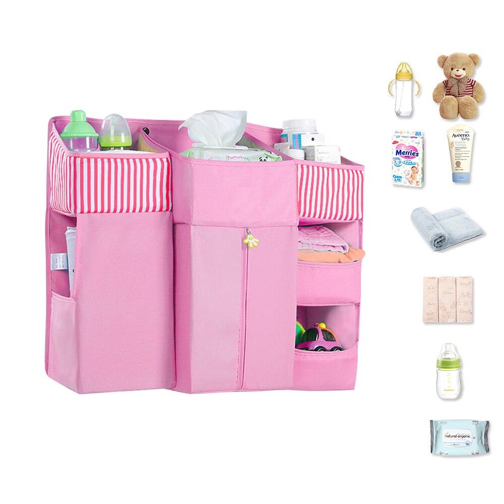 Детская кровать, Комплект постельного белья, висячая сумка для хранения, органайзер для кроватки, органайзер для новорожденных предметов п
