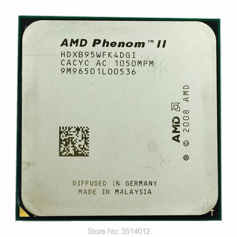 Amd phenom ii x4 b95 3.0 ghz quad-core processador cpu hdxb95wfk4dgm/hdxb95wfk4dgi soquete am3, quantidade de 945