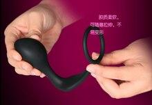Fantasie Silikon Männlichen Prostata Stimulation Massage Cockring & Butt Plug Anal Sex Spielzeug für Männer, erotisch Erwachsene Geschlechtsspielwaren