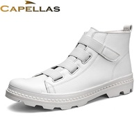 CAPELLAS Leather Men Boots High Quality Spring Autumn Boots Men Fashion Shoes Ankle Boot For Men