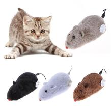 1PC Mouse Toy Clockwork Plush Mouse Toy for Cat Kitten Interactive Playing Toy Mechanical Motion Rat Pet Cat Products