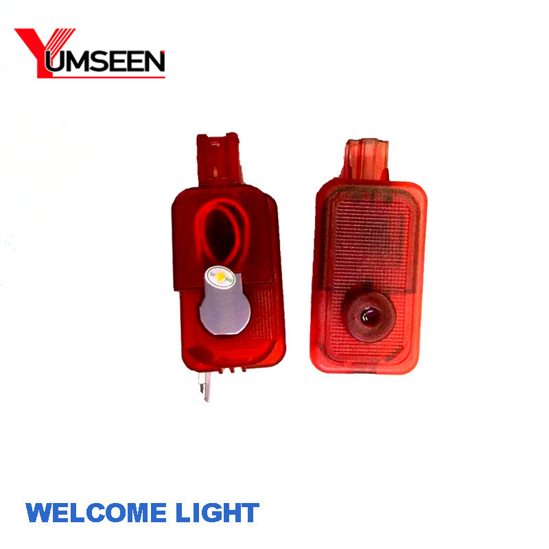 YUMSEEN New 2PCS LED Car welcome light LED Warning Light  Original Plug And Play  LOGO Projector For SUBARU 100%new adc16471ciwm adc16471 sop24 ns brand new original orders are welcome