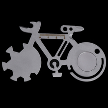 Многофункциональный гаечный ключ для ремонта велосипеда на открытом воздухе, инструмент для ремонта горного велосипеда, карта, инструмент для кемпинга, акция, Забавный гаечный ключ в форме велосипеда