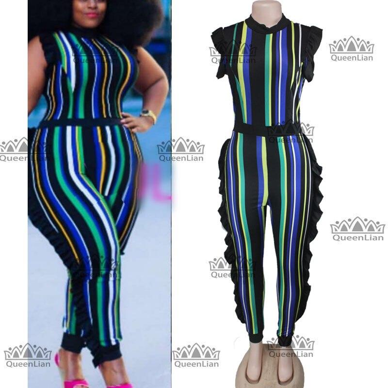 (5 Grootte) 2018 Afrikaanse Stijl Voor Vrouwen Fashion Design Borduren Jumpsuit Grote Elastische Pak Voor Dame (wxtw01 #)