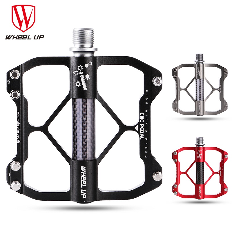 WHEEL UP New Aluminum Alloy MTB Mountain Bike Pedal CNC 3 Bearings BMX Anti-skid Ultrali ...