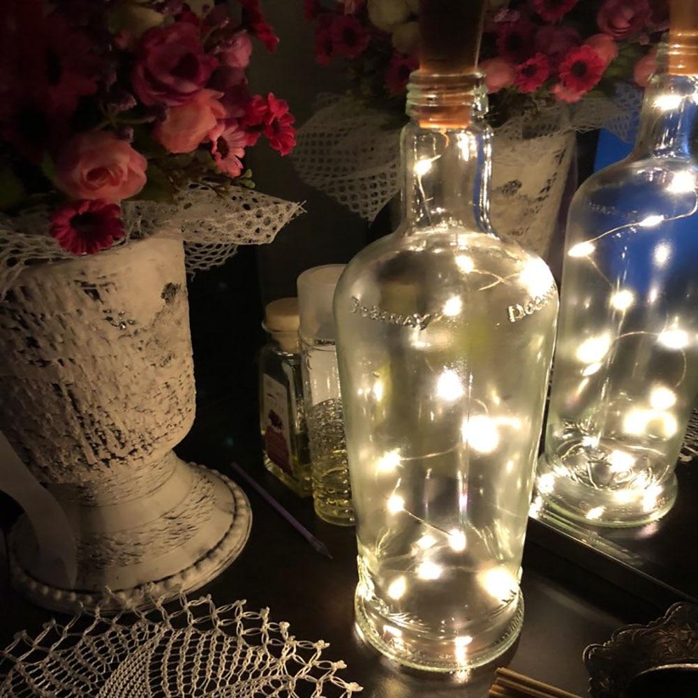 Wine Bottle Cork Shaped String Light 10Leds 20 LED Night Fairy Light Lamp Xmas For Christmas, Party,Wedding Holiday Decoration