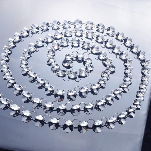 6.8Feet Glass Crystal Prisms 14mm Octagon Chandelier Chain ...:6.8Feet Glass Crystal Prisms 14mm Octagon Chandelier Chain Chandelier Parts  Lighting Accessories Garland Strand Curtain,Lighting