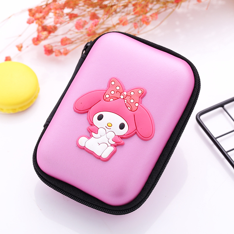 Kawaii Japanese Cartoon Silicone Coin Purse Gift Girl Women Rectangle Coin Key Wallet Lovely Anime Pink Lady Earphone Holder Bag girl women stylish cute silicone coin purse wallet