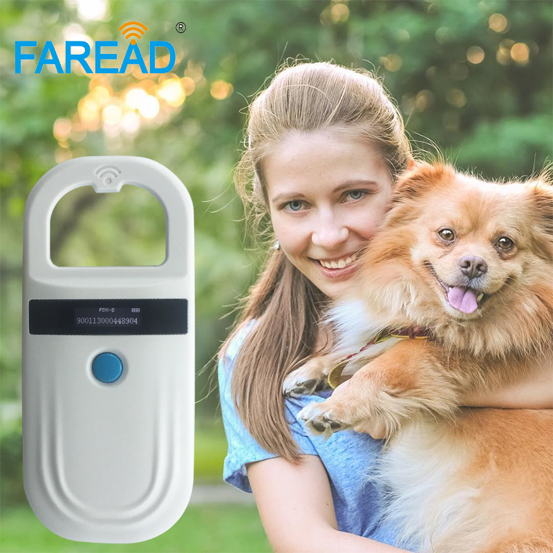 Free Shipping 1pc Free Sample Glass Tag +FDX-B RFID Animal Microchip Reader Pet Chip Scanner For Dog Cat Veterinary