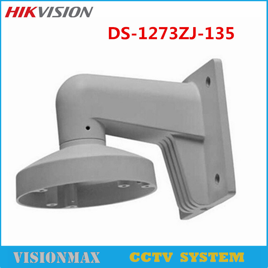Hikvision Wall Mount Outdoor bracket DS-1273ZJ-135 CCTV Accessories Suit For DS-2CD2732F-IS DS-2CD2732F-I IP Camera ds 1273zj 135 aluminum alloy bracket wall mount bracket for ip dome camera ds 2cd2732f is
