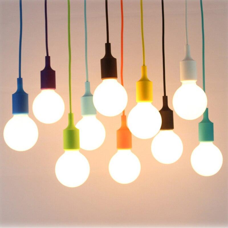 colorful silicone pendant lights fashion diy design decorative lights