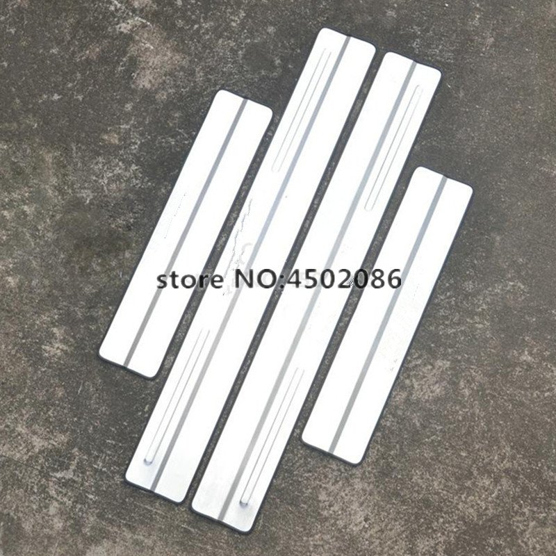 4PCS High Quality 304 Stainless Steel External Scuff Plate/door Sill Auto Parts For 2009-2015 Volvo Xc60 Car Styling