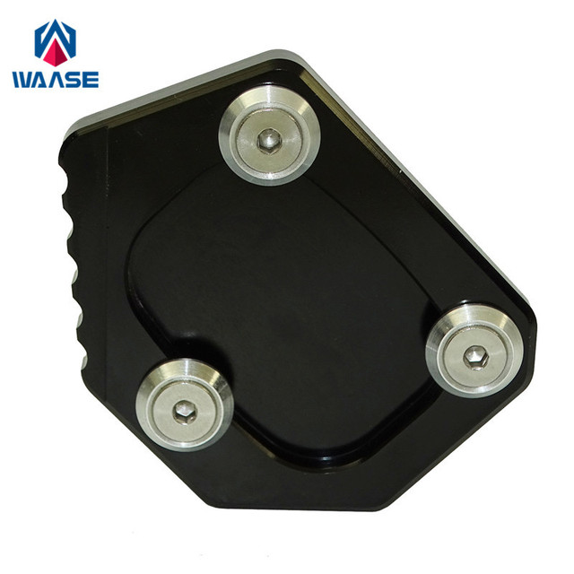 waase For Honda XLV 600 650 700 TRANSALP / DOMINATOR NX 650 / FMX 650 Kickstand Foot Side Stand Extension Pad Support Plate