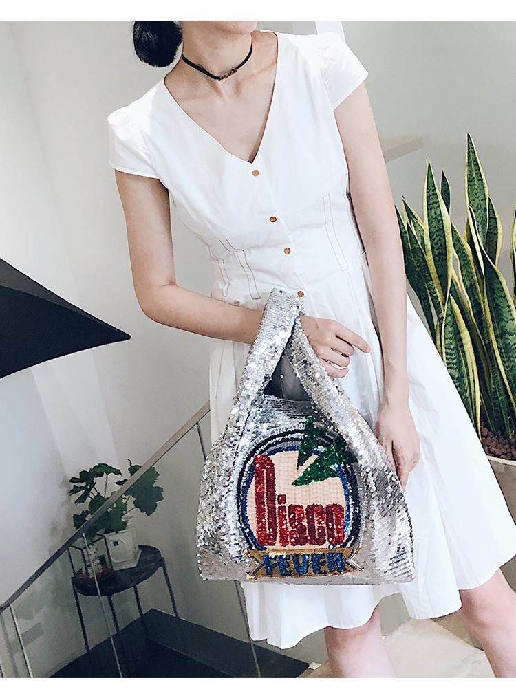 Bolsa Shopper Tote Feminina em Paetês