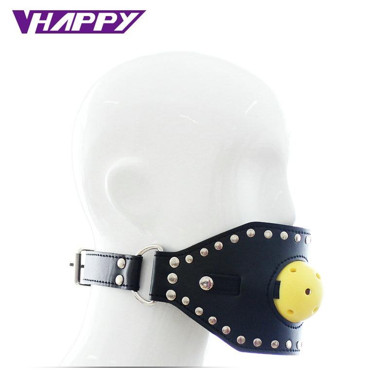 Bondage gear open mouth mask gag
