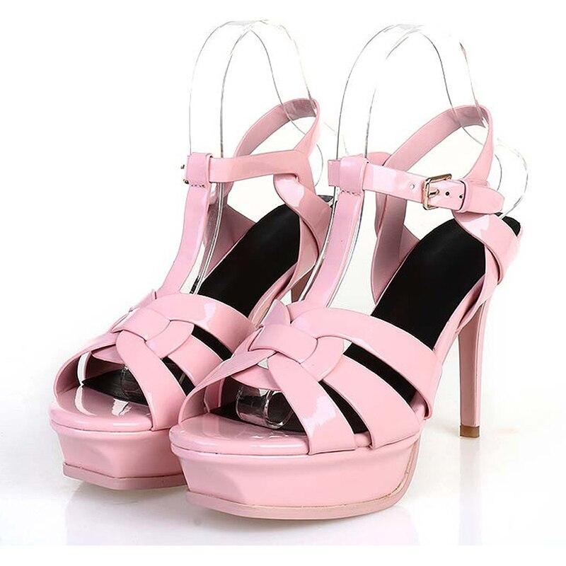HTB1I3TPX.LrK1Rjy0Fjq6zYXFXad Coolcept Genuine Leather High Heel Sandals Women Heels 10cm And 14cm Sexy Footwear Fashion Woman Shoes R4425 Hot Sale 33-40