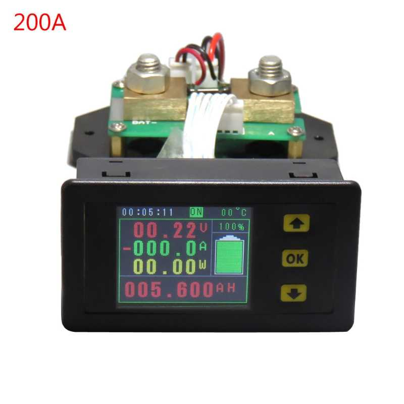 DC120V 100A 200A 300A 500A LCD Combo Meter Voltage Current Monitoring Monitor