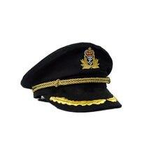 41c5d5b035 NaroFace Algodão Unisex Chapéu Capitão Marinheiro Uniformes Traje Do  Partido Cosplay Stage Execute Homem Militar Feminino Cap Ma.
