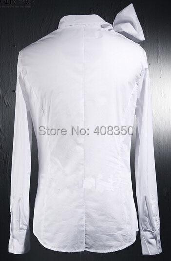 Vintage Tuxedo Dress Shirts Mens Fashion Bowknot Long Sleeve Designer Brand White Black Shirt Chemise Homme 2015 New  (7).jpg