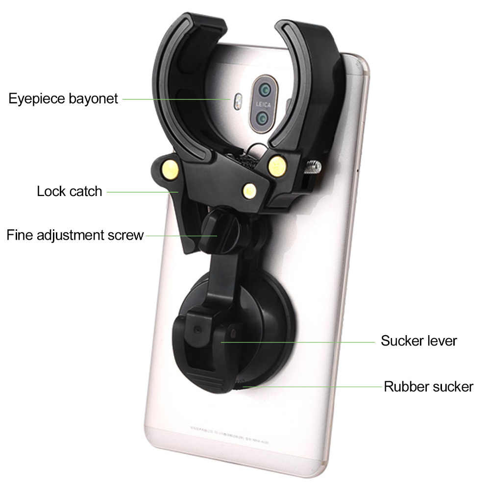 Universal Digitalกล้องโทรศัพท์Bracket Mountสำหรับผู้ถือSpotting Scope Monocularกล้องส่องทางไกลสายตายาวBayonet:27 มม.-53 มม