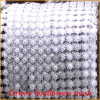 Free Shipping 5yard Lot 12rows Silver Sunflower Plastic Rhinestones Mesh Trimming Sewing Trim Wedding Dress DIY