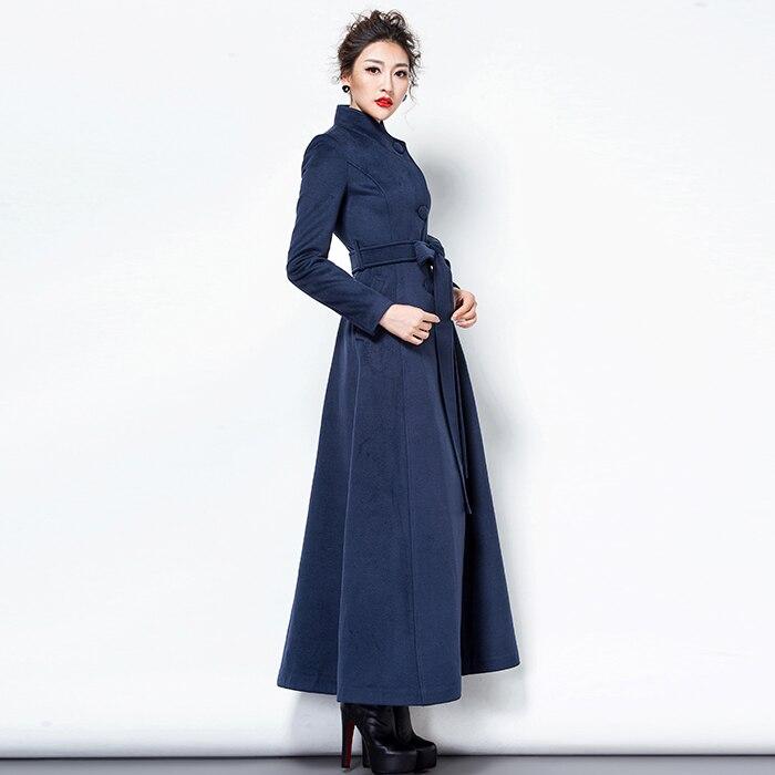 Laine Foncé Dames Coréenne Mince Pardessus Femmes Cachemire Manteau D'hiver Mode Vert Élégante Bouton 2018 Noir Rouge Manteaux De Long 1UaqzOWgw