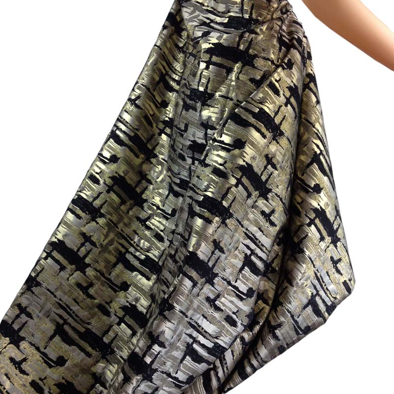 1 yard argintiu metalic Cross Jacquard Brocade Fabric pentru rochie, - Arte, meșteșuguri și cusut - Fotografie 5