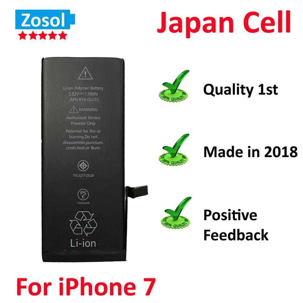 10pcs/lot Original Quality 0 zero cycle Battery for iPhone 7 1960mAh 3.82V Replacement Repair Parts