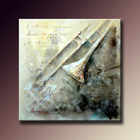 Handmade Abstract Musical Oil Painting Modern Art Painting Canvas Art Painting For Wall Decoration