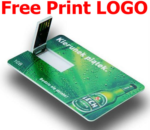 Free Printing Logo Business Card Usb Flash Drive 1gb 2gb 4gb 8gb