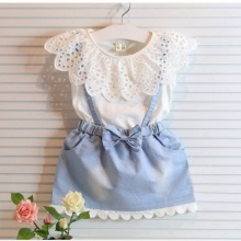 Новое модное Хлопковое платье для маленьких девочек, милое джинсовое платье принцессы без рукавов с фатиновой юбкой и бантом, высококачественные платья