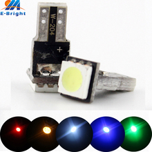 4pcs/lot T5 12V LED 5050 1 SMD Auto Car Wedge Instrument Dashboard DASH Light Interior Lamp Bulb White Blue Red Amber Green стоимость