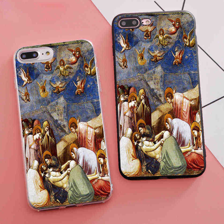 Coque Giotto di Bondone The Mourning of Christ Soft Silicone Phone Case for iPhone X 5S XR XS Max SE 6 S 6s 7 8 Plus Cover