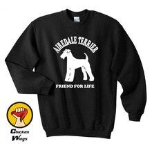Airedale Terrier Sweatshirt Dog Lover Pet Gift Present Crewneck Sweatshirt Unisex More Colors XS - 2XL-A154 цены