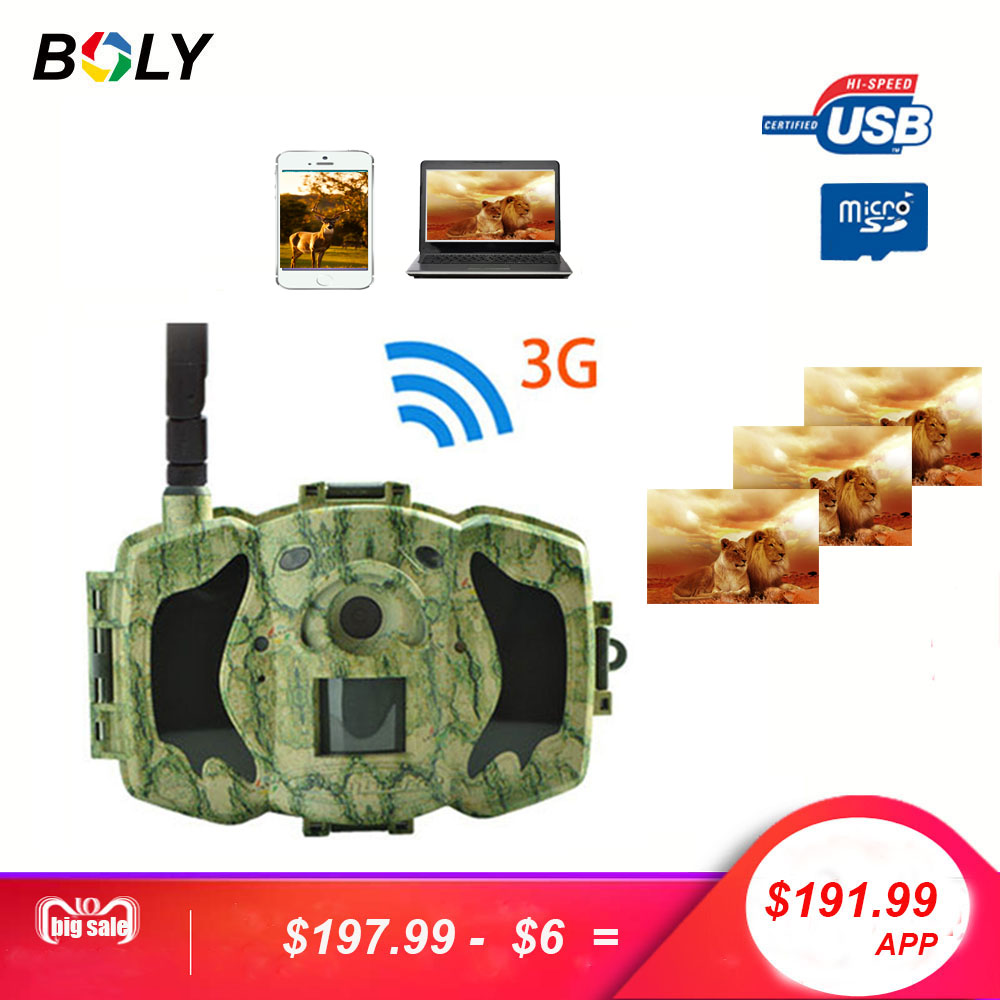 Bolyguard 30MP 1080P HD Hunting Trail Camera 3G Wireless Security GSM phone MMS GPRS Waterproof Anti