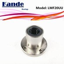 Kande подшипники LMF20 UU 2 шт./лот LMF20UU круглый фланец линейный шарикоподшипник 20 мм LMF20