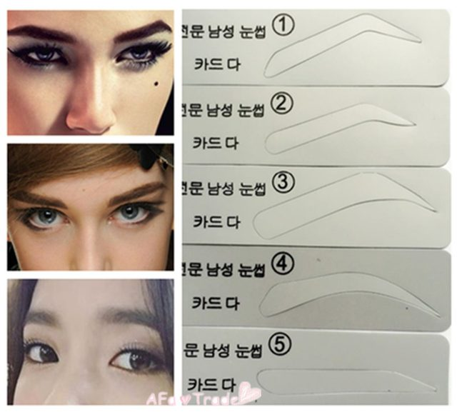 Online Shop 5pcs Eyebrow Stencil For Male And Female Eyebrow Painted