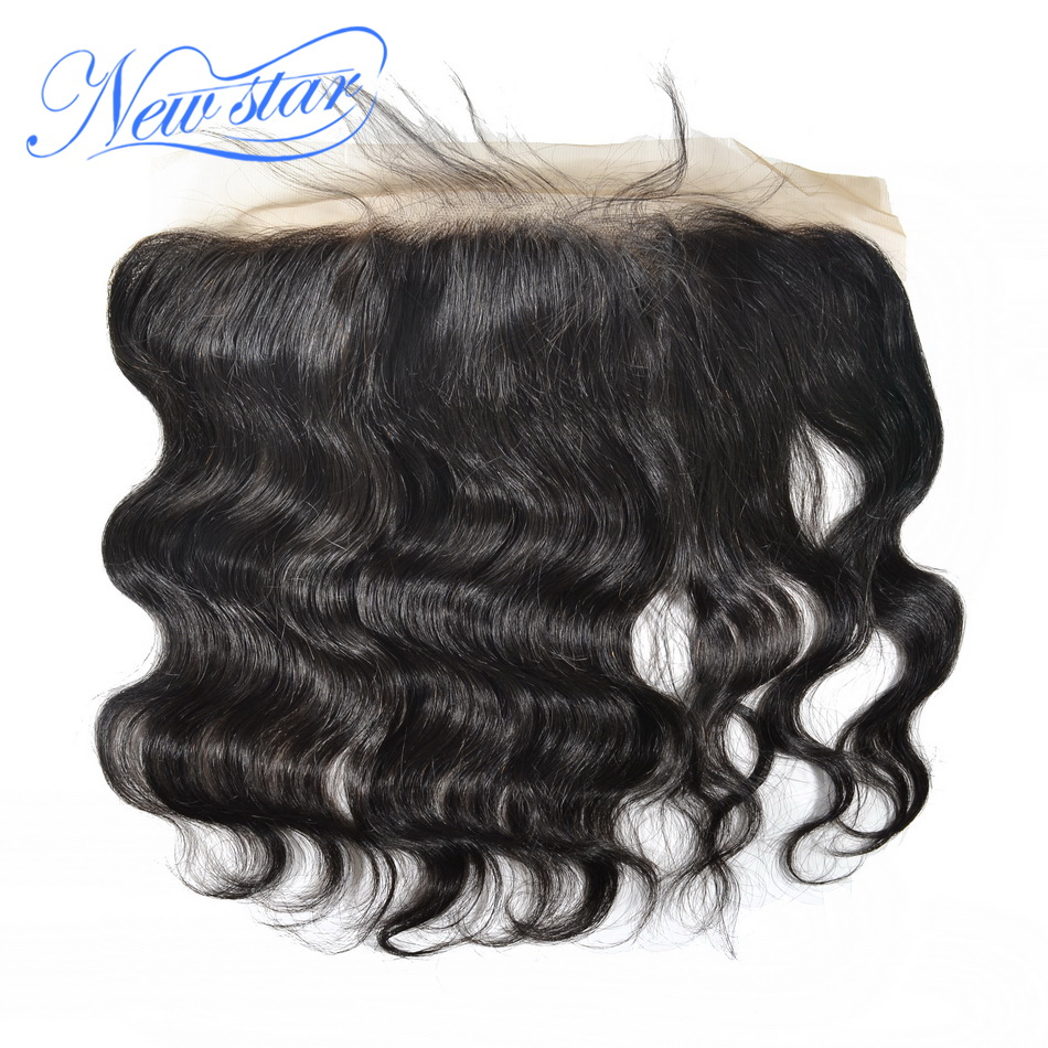 13x4 Closure Frontal Bleached Brazilian Human-Hair Lace Body-Wave Free-Part Pre-Plucked